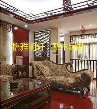西安红橡原木花格,西安红橡原木门,西安和室装修,西安和室风格茶室