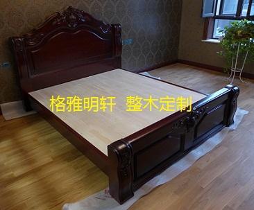 西安豪华欧式实木床格雅明轩安装实景案例