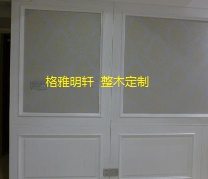 北京西安白橡实木护墙板格雅明轩卧室装修实景案例
