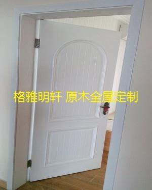 陕西西安原木门工厂格雅明轩欧式木门安装实景案例