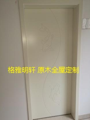 陕西西安实木复合门厂家格雅明轩卧室门实景效果